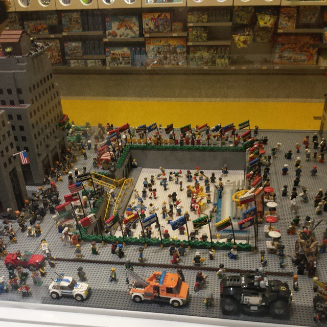 at Lego Land Rockefeller Center