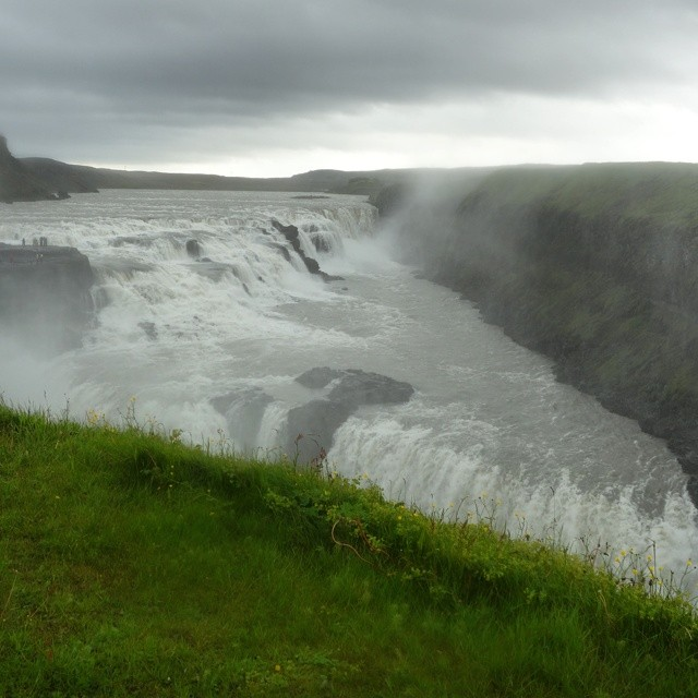 Like a piece of pie (at Gullfoss)