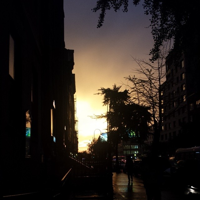 Crazy sunset from Chelsea tonight