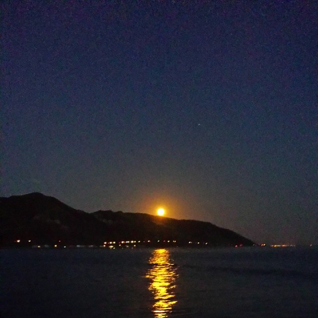 California Moon (at Santa Barbara Beach)