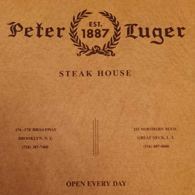 Couldn't be more thrilled about this.  (at Peter Luger Steak House Est. 1887)