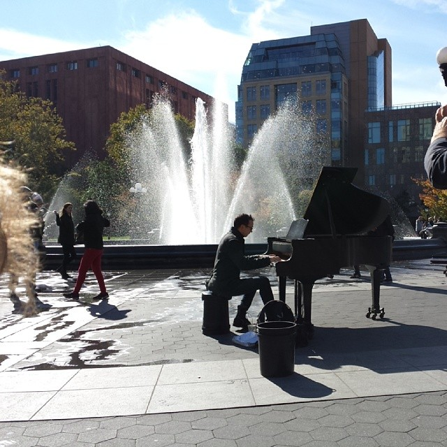 Piano man (at Washington Square Park)