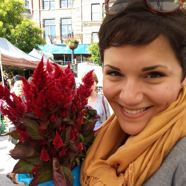 Flower girl (at Union Square Greenmarket)