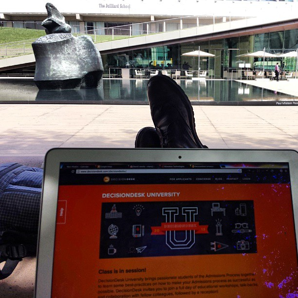 Working outside today (at Lincoln Center for the Performing Arts)