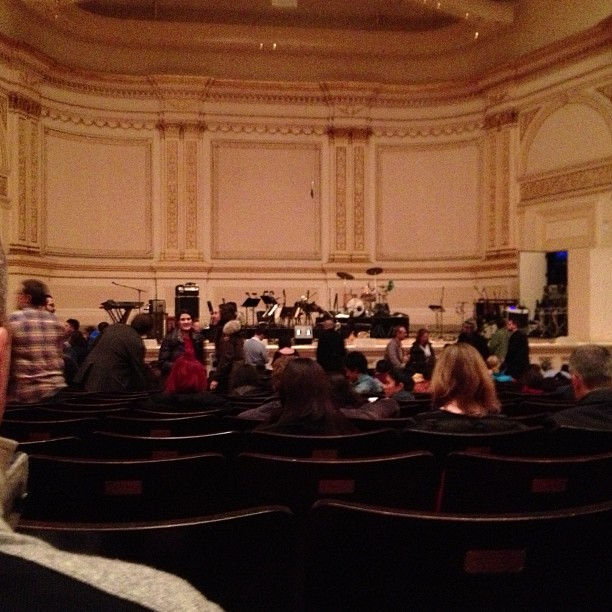First time in Stern auditorium since playing here in 2005, now seeing Dirty Projectors and yMusic (at Carnegie Hall (Stern Auditorium/Perelman Stage))