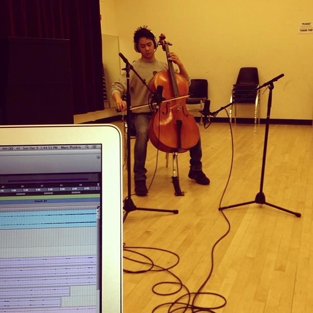 Just produced a great song for Kate Douglas, featuring Mason Lee on cello.