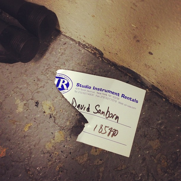 Found this in the basement of Blue Note (at Blue Note)