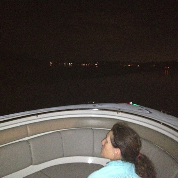 Night boating! (at Jupiter, FL)