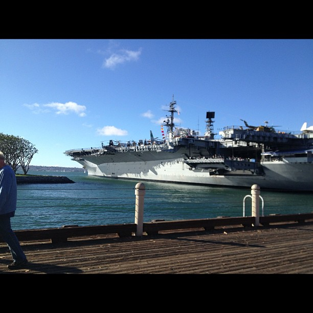 That's not the Intrepid! (at USS San Diego)