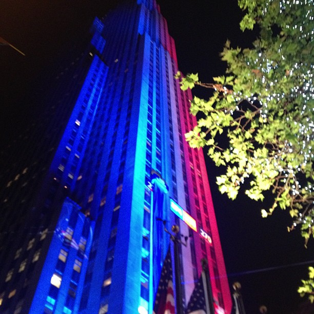 Crazy lights (at Rockefeller Plaza)