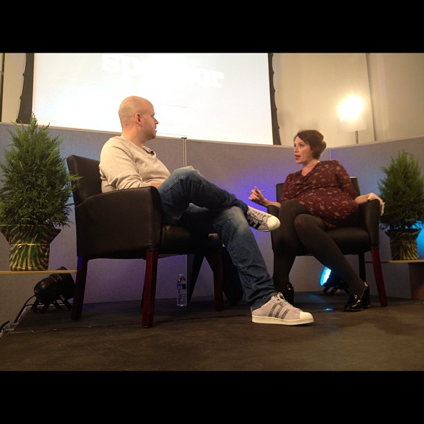 Just got to attend an awesome interview with Spotify founder Daniel Ek (at Projective Space LES)