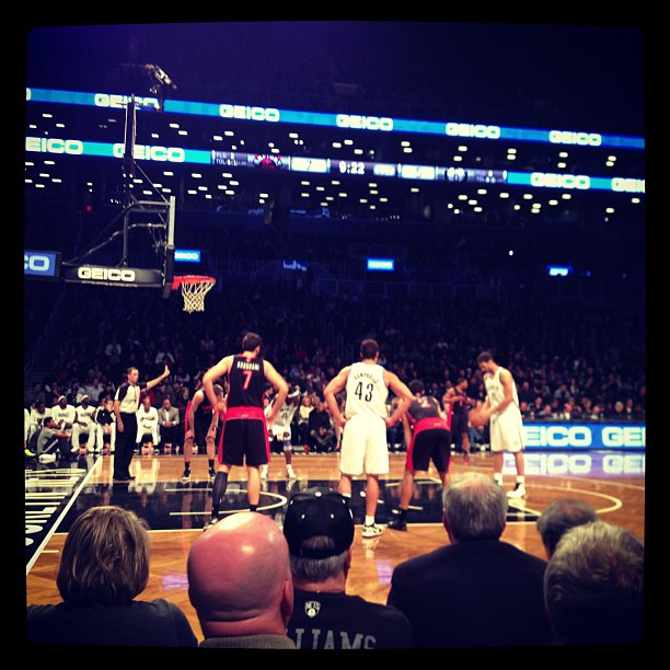 First game, new stadium (at Barclays Center)