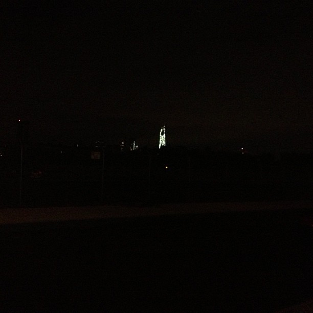 Dark except for one (at Williamsburg Waterfront)
