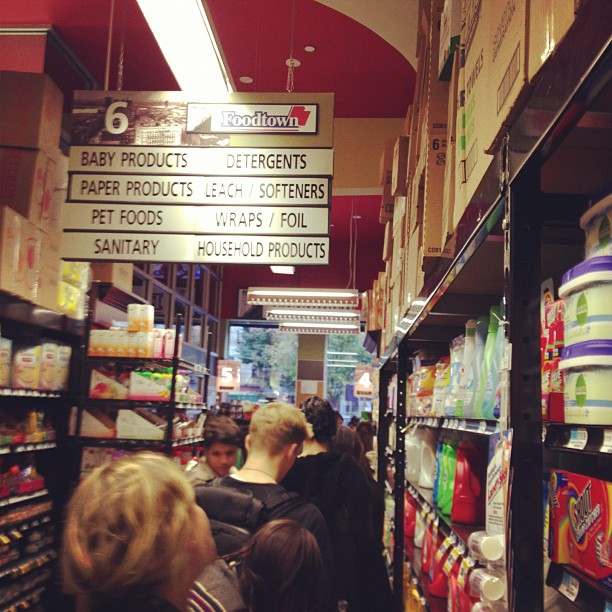 Dogs and cats, living together, mass hysteria (at Foodtown of Williamsburg)