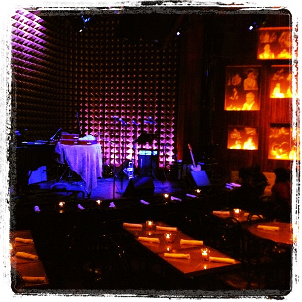 Playing Joe's Pub with Kate Douglas tonight, this place is awesome. (Taken with Instagram at Joe's Pub)