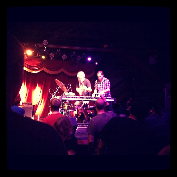 Charlie Hunter and Mike Dillon (Taken with  Instagram  at Brooklyn Bowl)