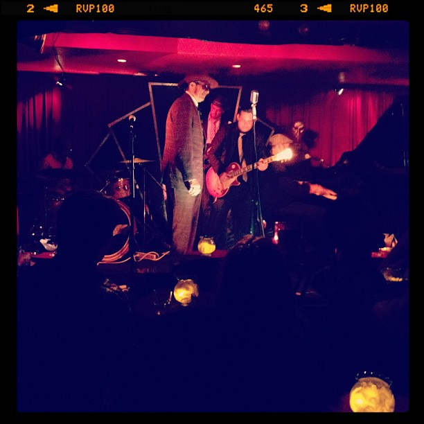 Bluezz (Taken with Instagram at Manderley Bar at the McKittrick Hotel)