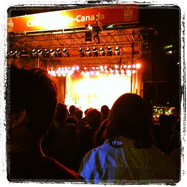 Kneebody doing crazy shit at Montreal Jazz Fest (Taken with Instagram at Scène TD de la place des Festivals - Festival International de Jazz de Montréal 2012)