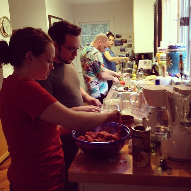 So many cooks, gonna be so good (Taken with Instagram at Jacobs Berkshires Getaway)
