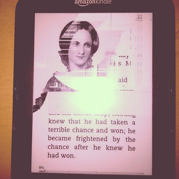 Unless that's a new screensaver, I think I accidentally killed my Kindle (Taken with  instagram )