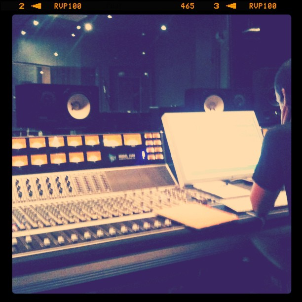 Awesome session at Rubber Tracks. Love this place. (Taken with Instagram at Converse Rubber Tracks Recording Studio)