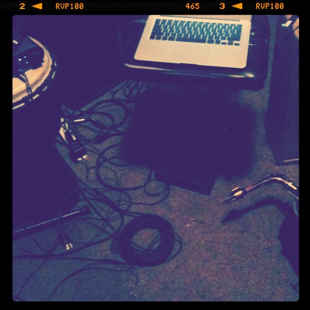 Rehearsal-space recording. (Taken with Instagram at Scientific Laboratories)