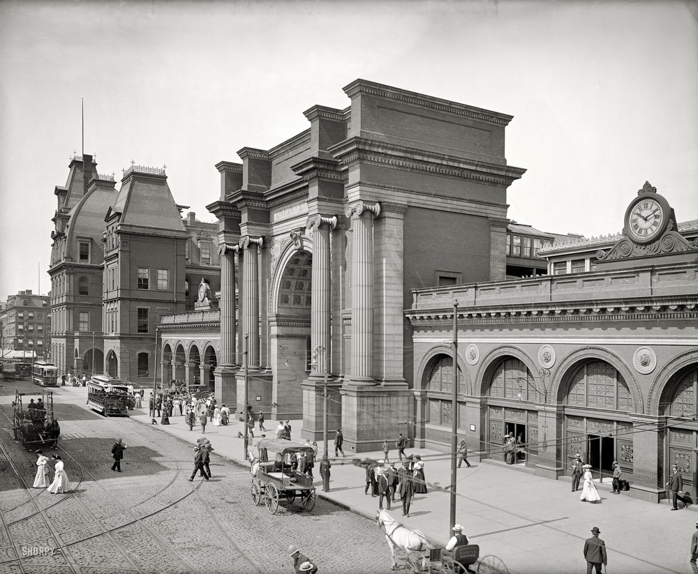 North Station, Boston circa 1905   [Detroit Publishing Company]