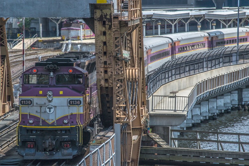 Crossing the Drawbridge at North Station   [©Justin Patterson, 7/1/12]