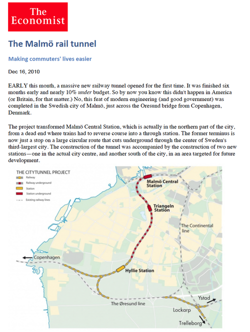 Malmo - Citytunneln — North South Rail Link