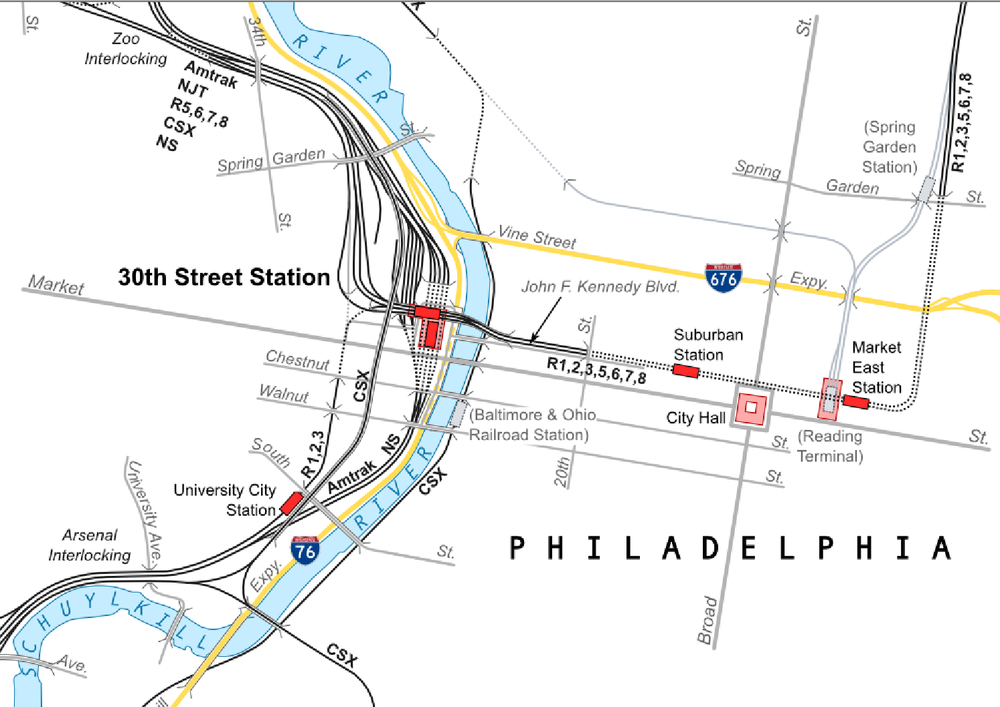 Philadelphia - Center City Commuter Connection — North South Rail on