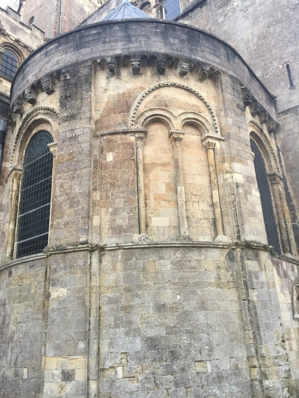 Corbel details on exterior
