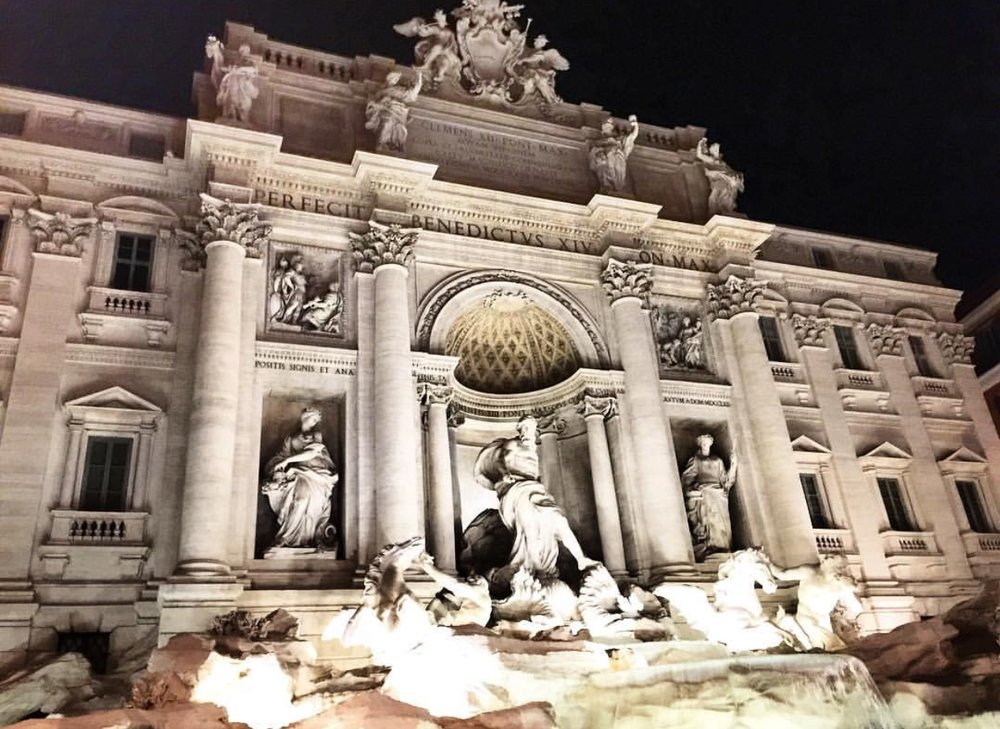Trevi Fountain seen at 2am.