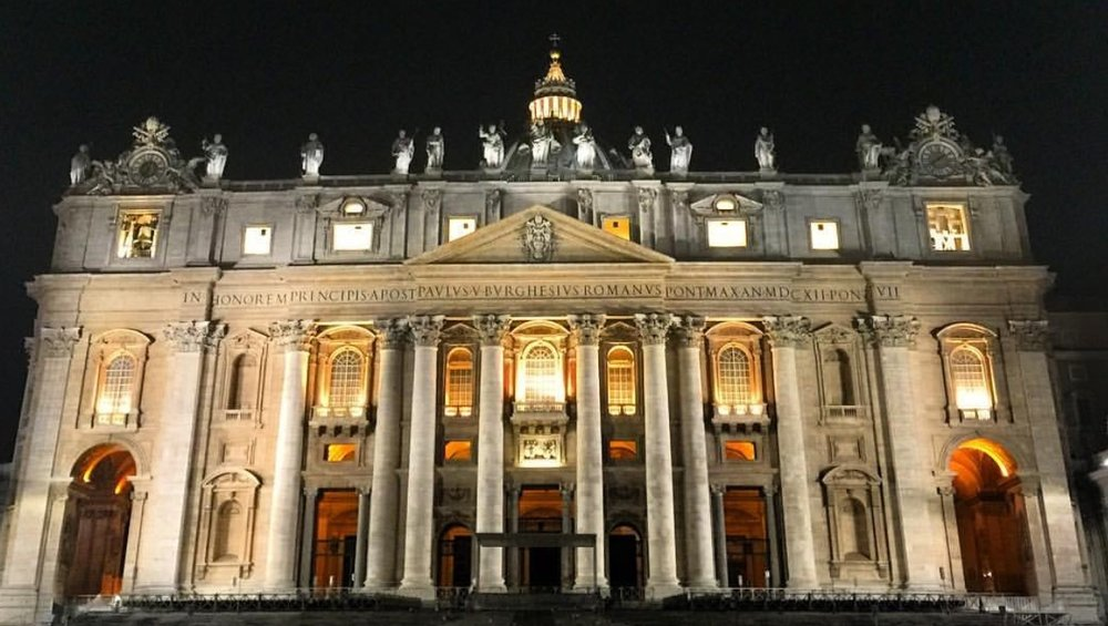 Front view of the Vatican. Photo taken March 2017