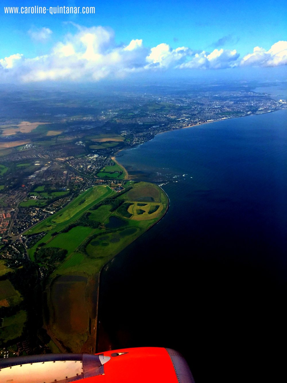 Flying into Edinburgh