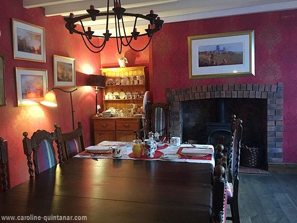 Breakfast dining area fit for historical nobility