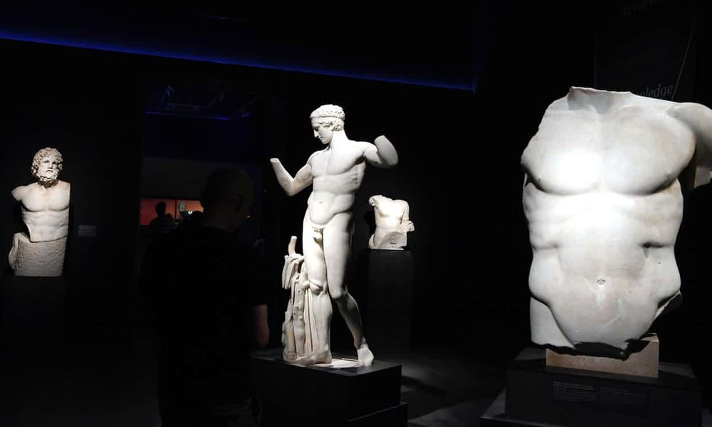 - The exhibition features 340 antiquities from the collections of the National Archaeological Museum of Athens. Photograph: Louisa Gouliamaki/AFP/Getty Images