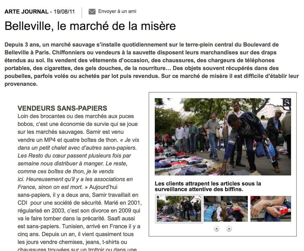 Belleville, marché de la misère