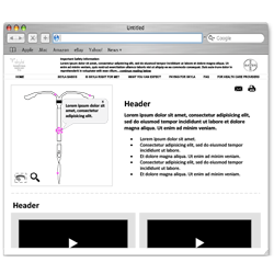 View Detailed Desktop WireFrame