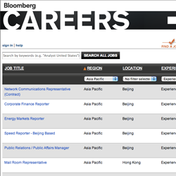 Bloomberg Career Page
