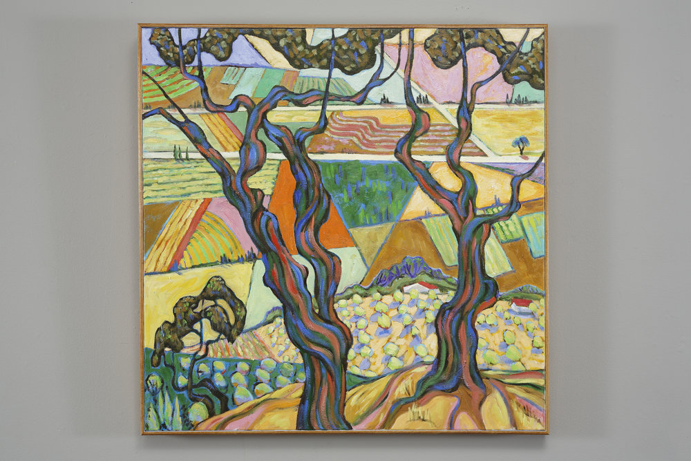 Olive Groves near Assisi, oil on canvas 30 x 30