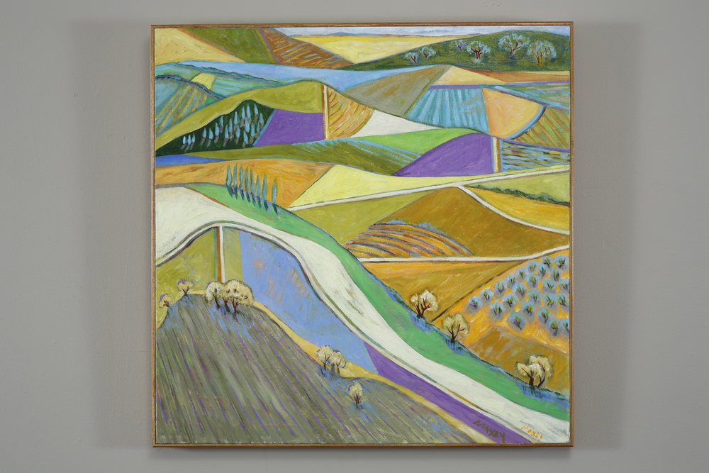 Fields in The Appenines, oil on canvas, 30 x 30