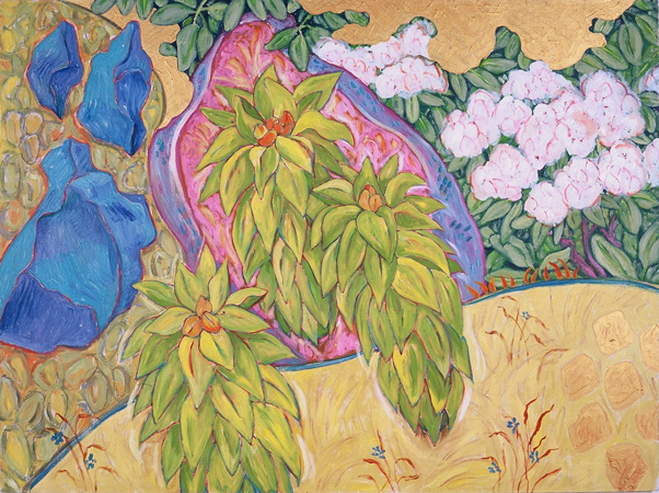 "Lilies In Waiting ,  oil on linen,  36""h x 48""w,  2002"