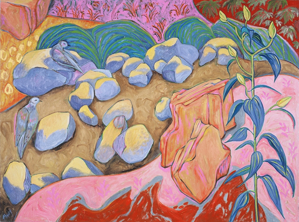 Summer Morning Doves, oil on linen, 36 x 48