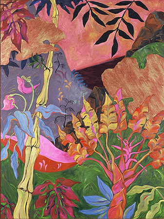 Road To Hana,  oil on linen,  1999