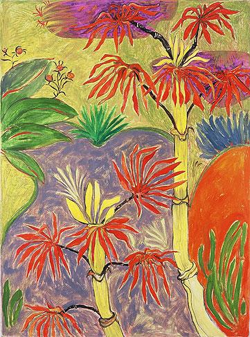 Shishendo Bamboo, oil on linen, 1998