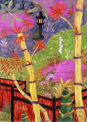 Gardens At Nara, oil on linen, 1998