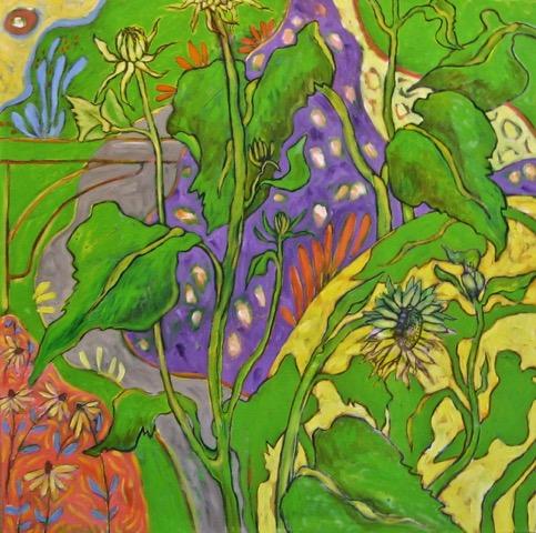 Garden Path, oil on canvas, 36 x 36