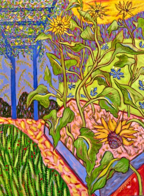 Late Summer Garden, oil on canvas, 40 X 30