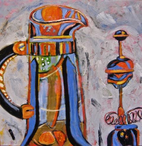 Couple, oil on canvas, 24 x 24