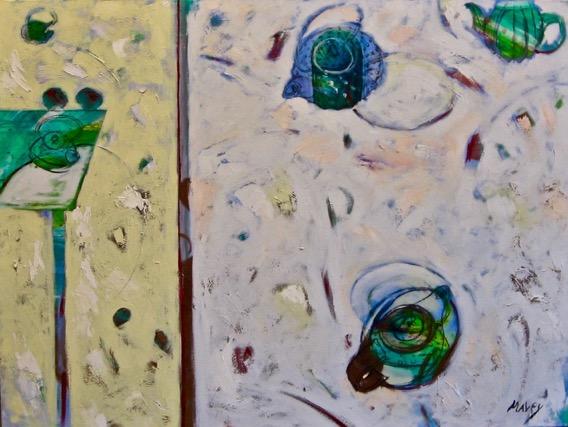 Split Pale Horizontal, oil on canvas, 36 x 48